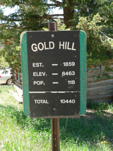 Gold Hill Sign