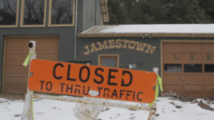 Jamestown Closed Sign